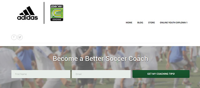 Coerver Coaching Homepage