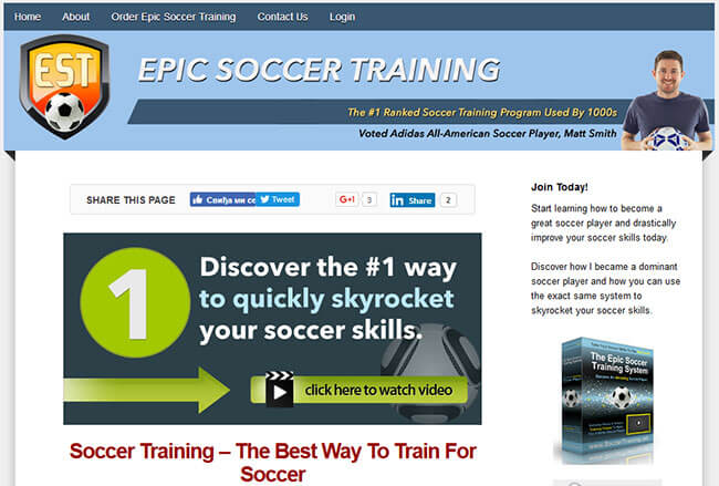 Epic Soccer Training Homepage