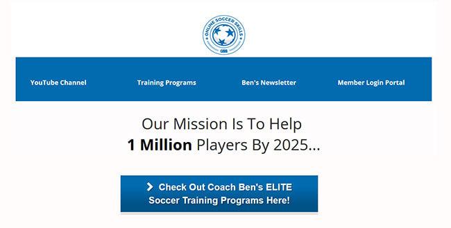 Online Soccer Skills/Coach Ben Soccer Training Homepage